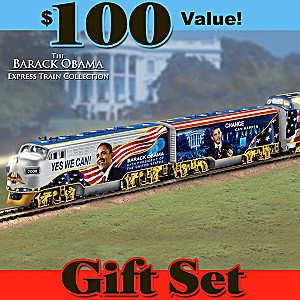 "Barack Obama ""Movement For Change"" Illuminated Train Set"