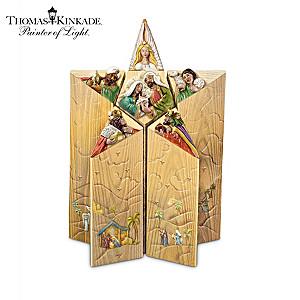 Thomas Kinkade Star Of Faith Nativity Set