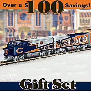 """Chicago Bears Express"" Illuminated Electric Train Set"