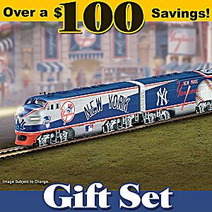 """New York Yankees Express"" Illuminated Electric Train"
