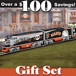 HO-Scale San Francisco Giants Illuminated Train Set
