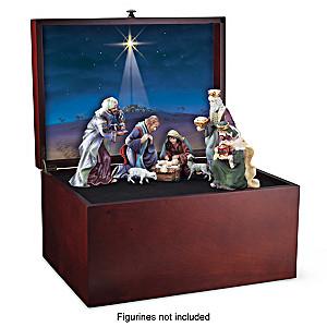 """Glory To The Newborn King"" Nativity Wooden Keepsake Box"