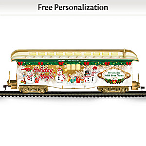 Personalized 2021 Holiday Baggage Train Car