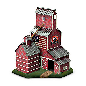 """""""Grain Elevator"""" Lighted Train Accessory With Sliding Doors"""