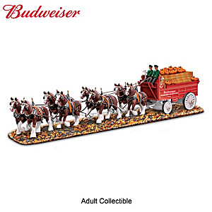 Budweiser Clydesdales Masterpiece Delivery Wagon Sculpture