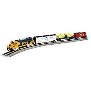 """""""Thunder Valley"""" N-Scale 4-Car Lighted Train Set"""