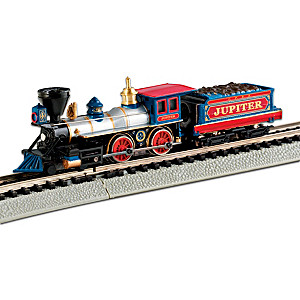 """N-Scale Central Pacific """"Jupiter"""" Locomotive And Tender"""