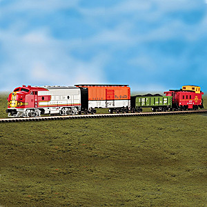 """The Super Chief"" 4-Car N-Scale Lighted Train Set"
