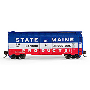 """Bangor & Aroostook Box Car"" N-Scale Train Accessory"