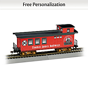 Personalized HO-Scale Caboose Train Car