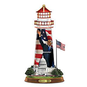 """Barack Obama """"Forward"""" Lighthouse Sculpture"""