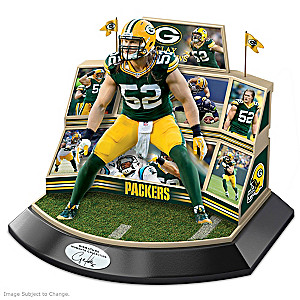 Green Bay Packers Clay Matthews Sculpture With Stadium
