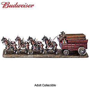 """Budweiser Clydesdales"" Cold-Cast Bronze Sculpture"