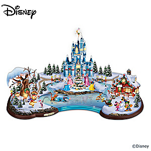 "Disney ""Christmas Cove"" Illuminated Village Sculpture"