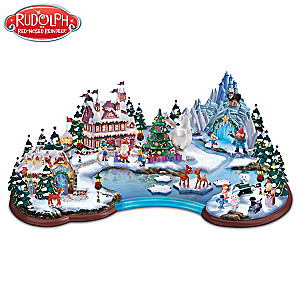 "Rudolph's ""Christmas Cove"" Illuminated Village Sculpture"
