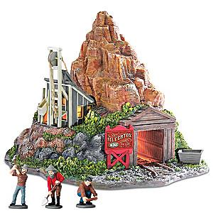 """""""Silverton Mine"""" Illuminated Train Display Sculpture"""
