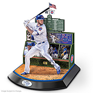 A Season To Remember Sculpture Featuring Kris Bryant