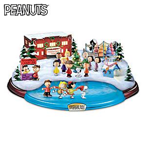 """PEANUTS """"Christmas Skating Pond"""" Illuminated Sculpture"""