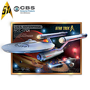 U.S.S. Enterprise Wall Sculpture With Lights and Sound