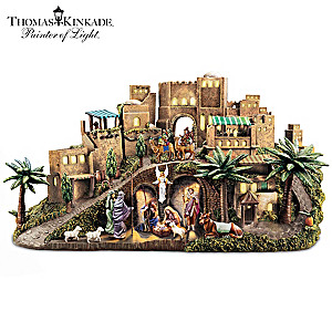Thomas Kinkade Illuminated Storytelling Nativity Sculpture