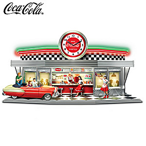 Always Time For A COKE Illuminated COCA-COLA Diner Clock