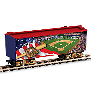 """America's National Pastime"" Musical Box Car"