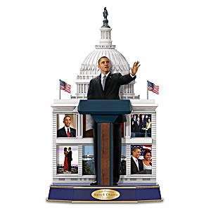 """Barack Obama Legacy Of A Leader """"Speaking"""" Sculpture"""
