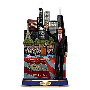 Barack Obama Sculpture Plays Famous Speech