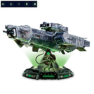 Alien Nostromo Illuminated Spaceship Sculpture