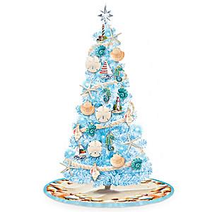 Coastal Shore Pre-Lit Christmas Tree