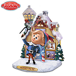 Rudolph The Red-Nosed Reindeer Hermey The Elf Sculpture
