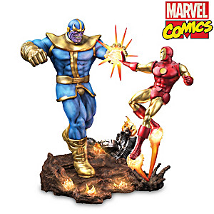 "MARVEL Comics ""Iron Man Vs. Thanos"" Illuminated Sculpture"