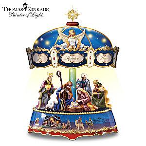 Thomas Kinkade Lighted Musical Nativity Carousel