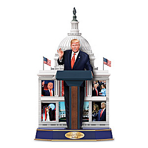 President Trump Sculpture With Recording Of His Speeches
