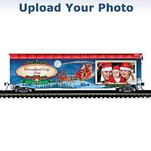 2020 Personalized Holiday Photo Train Car With Your Message