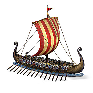 Legends Of The Sea Viking Warship With Eight Figurines