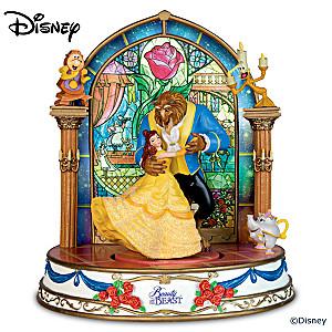 Disney Beauty And The Beast Illuminated Musical Sculpture