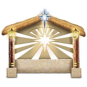 """Blessed Creche"" Illuminated Musical Nativity Sculpture"