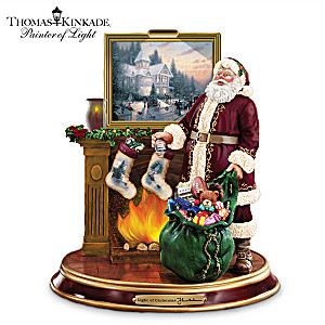 Thomas Kinkade Illuminated Santa Claus Figurine