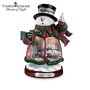 "Thomas Kinkade's ""Holiday Lights"" Snowman Figurine"