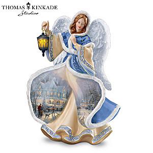 Thomas Kinkade Illuminated Winter Angel Figurine