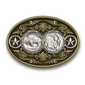 Genuine Buffalo Nickel Belt Buckle