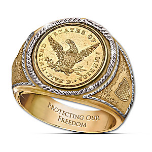 The 1839 $5 Eagle Proof Engraved Men's Ring