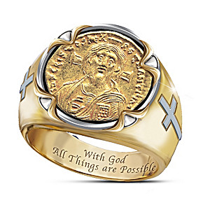 The Face of Faith: Christ Coin Ring