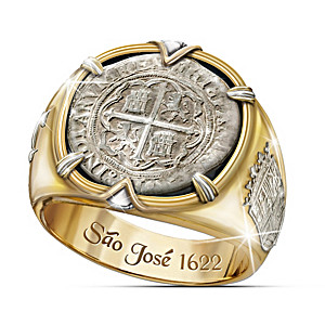 Sao Jose Men's Ring Crafted From 17th Century Coin Silver