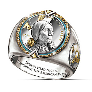 All-New Indian Head Coin Men's Ring By Joel Iskowitz