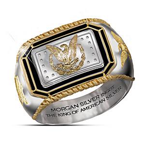 The Morgan Silver Ingot Engraved Men's Ring