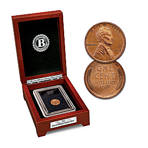 The 1909 VDB Lincoln Penny Coin With Display Box