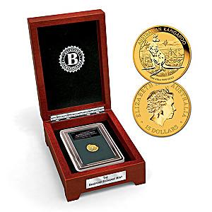 99.9% Gold $15 Australian Kangaroo Coin: Minted 2014
