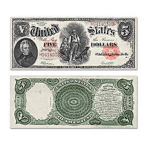 The Last Series of 1907 $5 Legal Tender Woodchopper Bill
